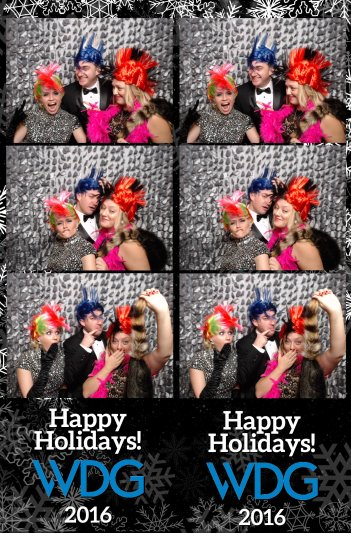 Y-it Entertainment Holiday Party photo booth strip