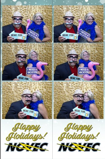 Holiday Party Photo Booth Strip
