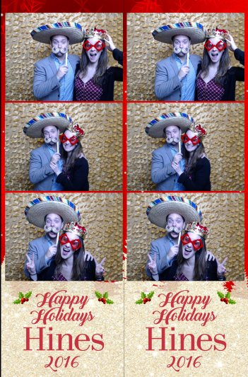 Hines Holiday Party Photo Booth Strip