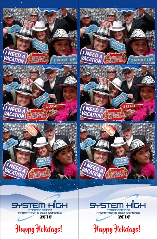 Holiday Party System High Photo Booth Strips