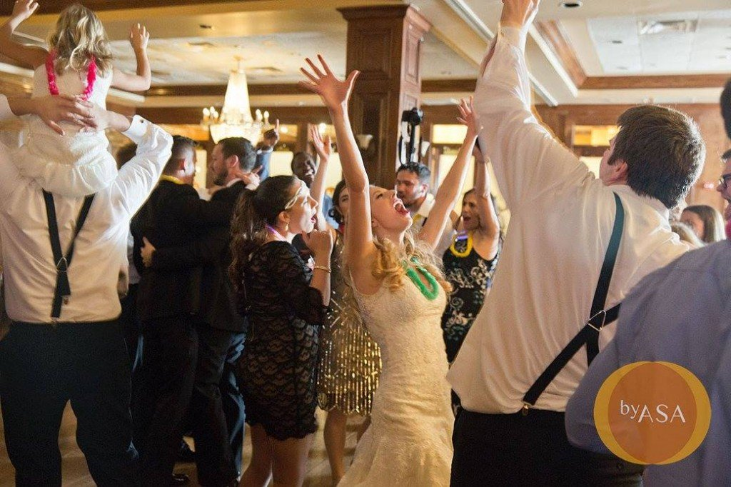 Julia Dancing on her wedding day at Maggiano's Chevy Chase