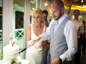 Airlie Center Wedding cake cutting with Carly and Tyler 2016 www.yitentertainment.com