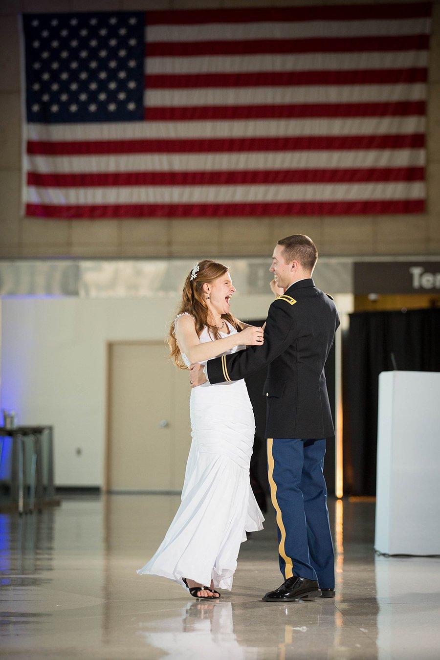 Jenna and Josh first dance at Reagan Airport2 2016