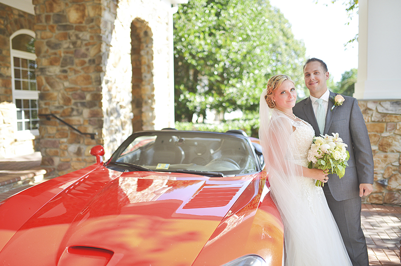 Karmi and Kasey's Wedding send off car 2016