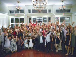 Karmi & Kasey's wedding group shot 2016 www.yitentertainment.com