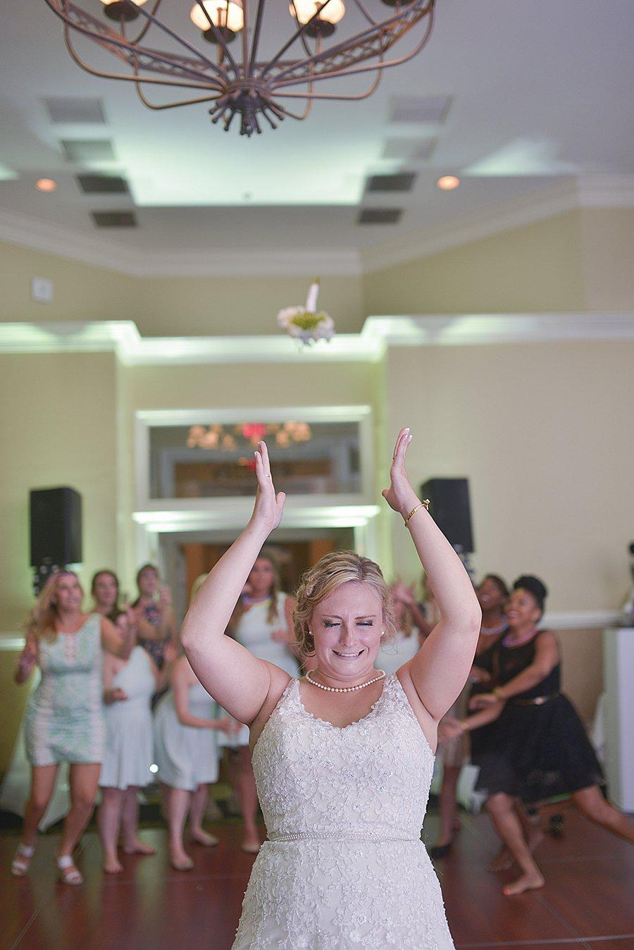 Karmi wedding Bouquet Toss 2016 at Piedmont club www.yitentertainment.com