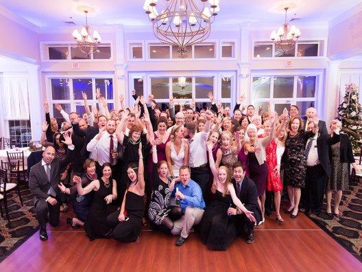Y-it Entertainment Group Shot at Rachel and Branden's wedding
