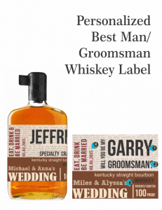 Knob Creek Personalized Wedding Bottle