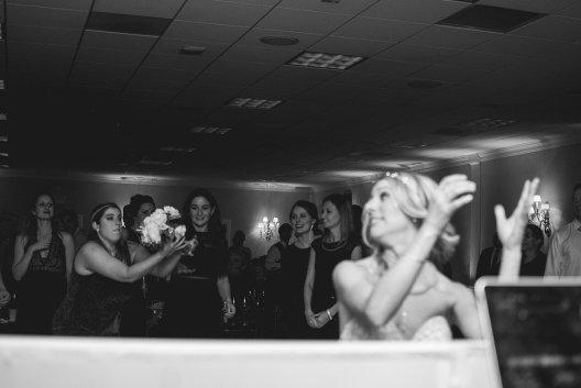 Katie Wedding Bouquet Toss 2017