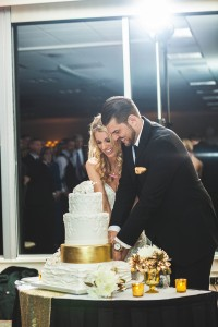 Katie and Justin Wedding Cake cutting 2017