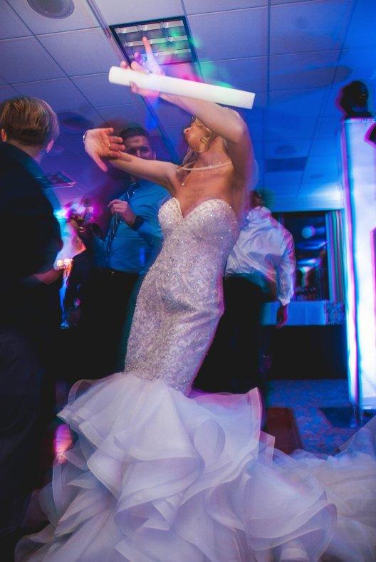 Katie dancing at her wedding reception 2017