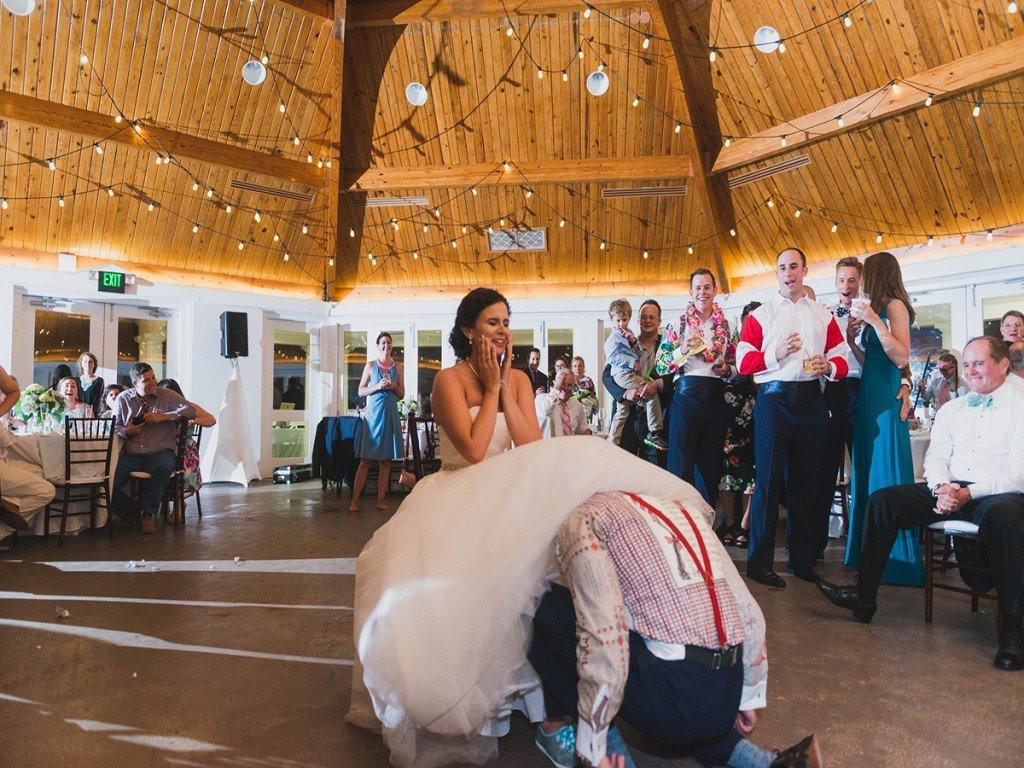 Wedding Garter removal