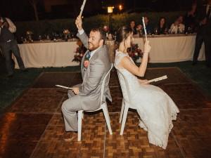 Brandon & Christy Wedding the shoe game