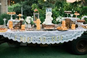 Jessica and Davids Wedding dessert table at McCormick Ranch in Camarillo, CA www.Yitentertainment.com
