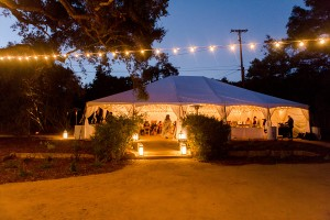 Doug & Katharine's Wedding Reception in Ojai, Ca Wedding Tent 2017