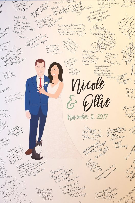 Nicole and Ollie Weding Guest Picture 2017 at North Ranch center in Thousand Oaks
