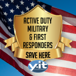 Active Duty Military and First Responders always save! www.YitEntertainment.com Wedding Mobile DJ, Photo Booth, Lighting serving Ventura County