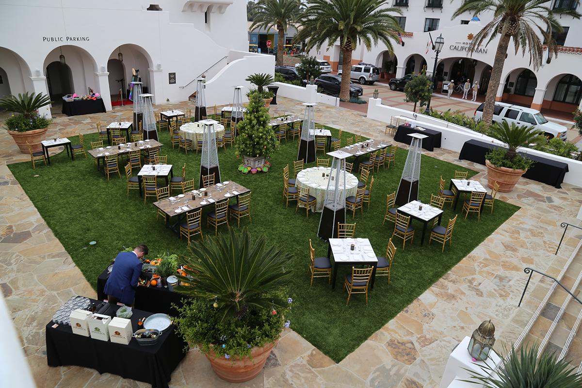 Hotel Californian Easter Brunch 2018 setup