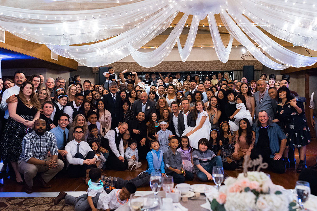 Taylor and Brian's Wedding at Saticoy Country club group shot 2018