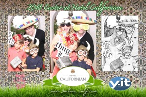 Hotel Californian's Easter Brunch Santa Barbara 2018 Photo booth. www.Yitentertainment.com
