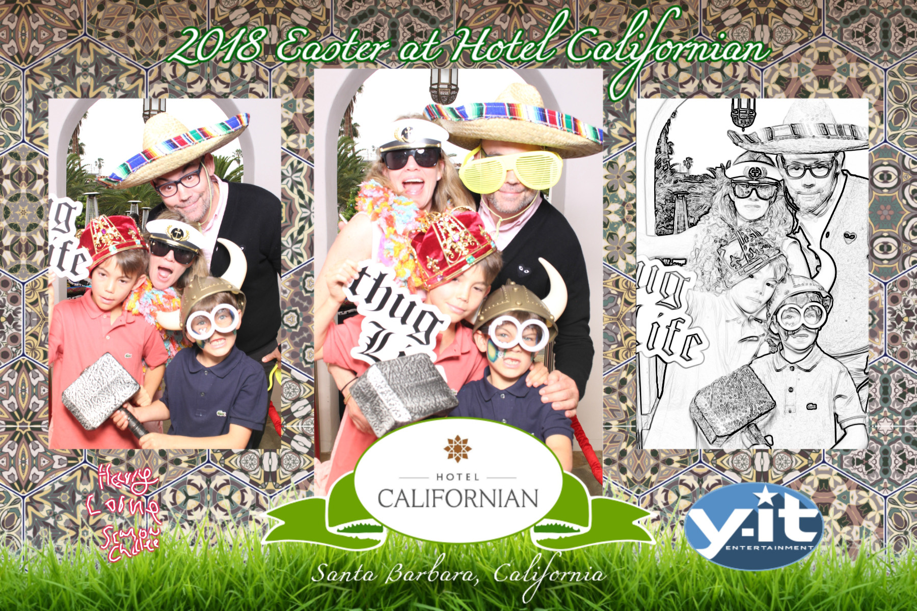 Hotel Californian's Easter Brunch Santa Barbara 2018 Photo booth. www.Yitentertainment.com