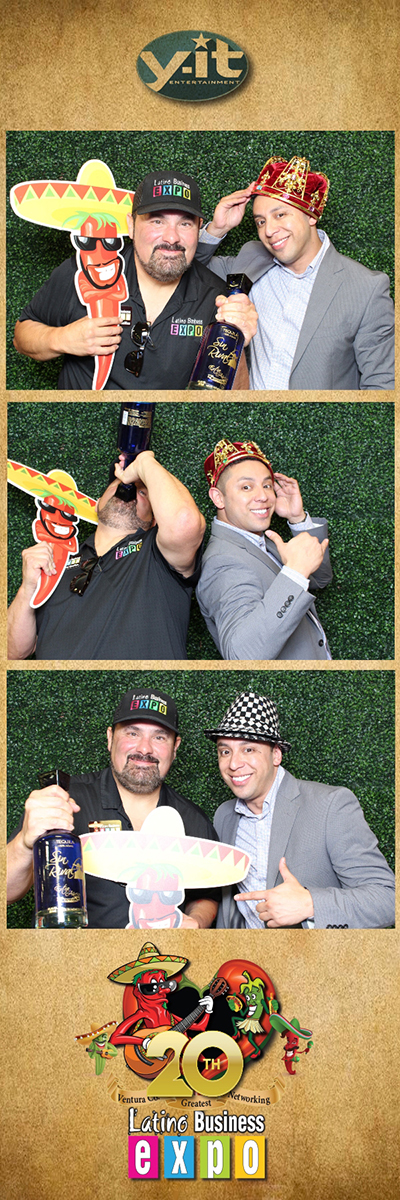 Latino Business Expo at Ventura Fairgrounds May 2018 Photo Booth Strip www.YitEntertainment.com