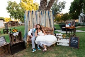 Kelly & Robbie wedding diy photo booth 2018
