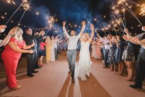 Limoneria Wedding sparkler exit 2018
