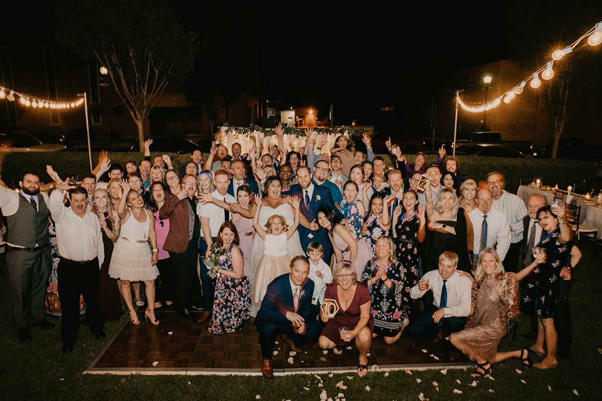 Vanessa and Chris's Wedding at Glen Tavern inn 2018 Group shot