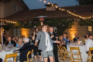 Amanda and Max's wedding Santa Barbara, CA introductions