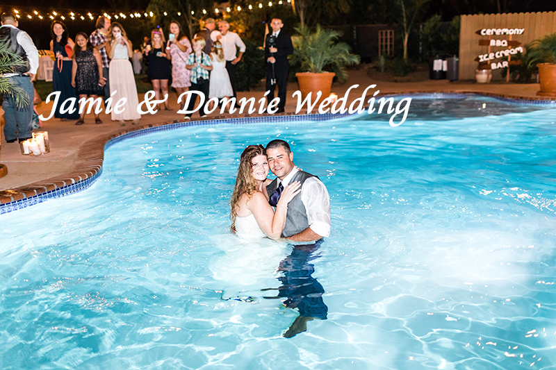 Jamie and Donney Wedding in the Pool Simi Valley copy with name