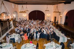 Rockwood Womens club wedding Santa Barbara group shot staci and danny