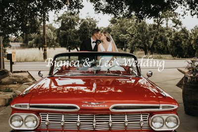 Ojai Wedding with old car www.yitentertainment.com