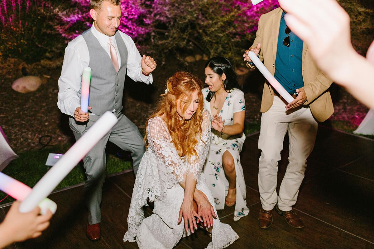Wedding bride on dance floor